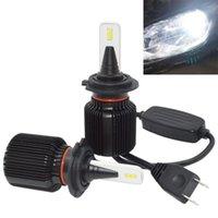 12v helle led-scheinwerfer großhandel-Autoscheinwerfer H7 LED Birne extrem helle h7 Scheinwerferbirne CSP bricht 40W 8000lm 6000K 12V / 24V Automobiles Licht ab