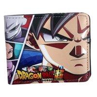 ejderha çantası toptan satış-Yeni Tasarım dragon ball süper Cüzdan Anime goku Erkek Cüzdan Para Çantası ile Fermuar Küçük Para Çantalar Dolar Ince Çanta # 124599