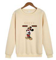 американские фирменные свитера оптовых-Высококачественный пользовательский европейский и американский уличный бренд 2019 новый мультфильм мышь свободная повседневная плюс бархатный свитер