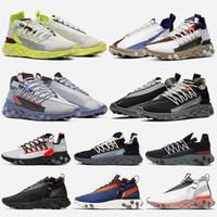 iluminación de voltio al por mayor-Nike React WR ISPA diseñador React Shoes React ISPA WR Zapatos para correr para hombres mujeres Platinum Volt Summit White Wolf Grey Gunsmoke Ghost Aqua Zapatillas deportivas