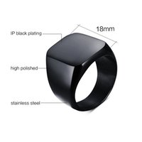 Wholesale blank stainless steel rings resale online - Nordic Simple Titanium Steel Blank Surface Fine Polishing Square Couple Ring for Men