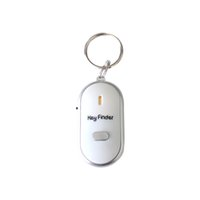chaveiro localizador de som venda por atacado-Whistle Key Finder Keychain Sound LED With Whistle Claps,Discoverer Detector Prevent Key Lost Inductor Whistle Sound Control