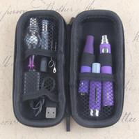 Wholesale dab face resale online - Vape Dab Pens eVod Vaporizer in Starter Kits Dry Herb Wax Oil Vapes Thread USB Passthrough CE3 Vape Cartridges Kit Towel