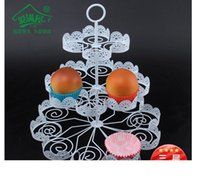 Wholesale cupcake holder for sale - Group buy 3 Tiers White Lace Iron Cake Stand Can Hold Cakes Cupcake Holder Wedding Decoration Dessert Display Rack