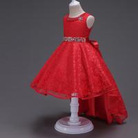 ropa de pasarela al por mayor-Los modelos de explosión de ropa para niños las niñas se visten de la pasarela de los niños de encaje vestido de princesa silla de piano vestido pequeño falda