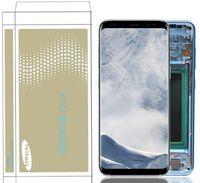 touch samsung lcd großhandel-Original Burn-Shadow LCD Baugruppe Ersatz für Samsung Galaxy S8 G950F G950U S8 Plus G955 G955F Touchscreen Digitizer LCD Baugruppe