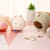 Wholesale clear silicone toy for sale - Group buy Cute Silicone Doll Child Piggy Bank Cartoon Piggy Bank Child Educational Toys Exquisite New Year Gift Decoration Decoration