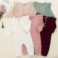 Wholesale infant girl clothes new resale online - New Baby Rompers Spring Autumn Baby Boy Clothes New Romper Cotton Newborn Baby Girls Kids Designer cartoon Infant Jumpsuits Clothing