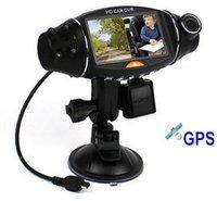 сенсорный экран для приборной панели автомобиля оптовых-Новая R310 горячая модель HD вождение рекордер с двумя объективами 140 градусов широкоугольный ночного видения зондирования силы тяжести GPS, автомобильный видеорегистратор