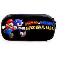 kızlar için güzel üstler toptan satış-Mario Sonic Kalem Kutusu Öğrenciler Çanta Çocuk Erkek Kız kalem çantası Moda Sevimli En Kaliteli Çocuklar Kırtasiye kutusu Güzel Hediyeler