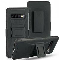 ingrosso caso del difensore s6-Per Samsung Galaxy S10 Plus S9 S9 S8 S6 S6 Edge S5 NOTE 3 4 5 8 9 Clip Belt Stand Armor Custodia rigida per PC resistente agli urti Defender Cover 1pz