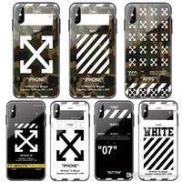 sınırlı iphone toptan satış-1 Adet Harf Sınırlı Kamuflaj cam + iphone 11 pro maksimum 6 6S S için yumuşak silikon kapak artı 7 7plus 8 8plus X XR XS MAX arka kapak telefon coque