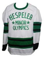олимпийские хоккейные майки белые оптовых-НЕДОРОГО ПОЛЬЗОВАТЬСЯ Gretzky Hespeller Minor Olympics Хоккей Джерси New White Персонализированные стежки любое число любое имя Mens Hockey Jersey XS-5XL