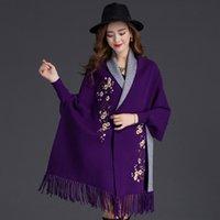 points de broderie en laine achat en gros de-automne hiver femme manteau style coton laine manteau style point ouvert gland bas mode manteau avec broderie y156