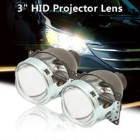 Wholesale bi xenon projector headlights for cars online - 3 inch W HID Bi Xenon Q5 Projector Lens LHD For H4 Car Headlight Auto HID Bi Xenon Projector Bright Koito v