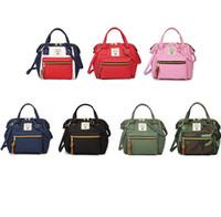 öğrenci çapraz çantaları toptan satış-Kızlar Omuz Çantası Japon Tarzı Öğrenci Okul Sırt Çantaları Oxford Kadınlar Çapraz Seyahat Çantaları Küçük Su Geçirmez Doğum Sırt Çantası GGA2177