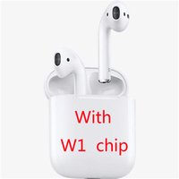 Wholesale new cell phones online - 2019 NEW For Airpods W1 Chip Bluetooth Earphone case works Touch Voice Control Connect to iCloud Top quality