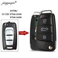 складной ключ кейс оптовых-jingyuqin 433 флип складной пульт дистанционного ключа автомобиля чехол брелок 3 кнопки для SsangYong Korando новый Actyon C200 87540 34100/34200