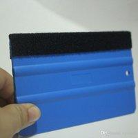 mavi araba aksesuarları toptan satış-Araba Vinil Film sarma araçları Mavi Kazıyıcı silecek keçe kenar boyutu ile 13 cm * 8 cm Araba Styling Etiketler aksesuarları