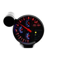 ingrosso sensore del contatore dell'acqua-5 pollici 4 IN 1 Auto Meter Indicatore di temperatura dell'acqua Indicatore di temperatura dell'olio Indicatore di pressione dell'olio Tachimetro con sensori Auto Racing Modified