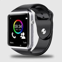 спортивные наручные часы оптовых-2018 Новый 5 цвет A1 наручные часы Bluetooth смарт часы Спорт шагомер с SIM-камеры Smartwatch для Android смартфона
