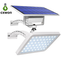 lampadaires achat en gros de-La lumière solaire 48leds IP65 de jardin de 800lm intègrent la lumière de mur solaire extérieure à angle réglable solaire de réverbère