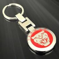 jaguar araba anahtarları toptan satış-Yüksek dereceli H toka leopar kafa araba Jaguar araba reklam için standart metal anahtarlık bel anahtarlık kolye