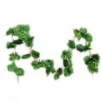 künstliche reben großhandel-Künstliche grüne gefälschte hängende Rebe pflanzt grüne künstliche Girlande-Pflanzen, die Rebe-Rattan / Home / säubernde Dekoration-Traube hängen