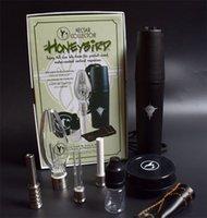 mini bal toptan satış-Honeybird Nektar Toplayıcı Kitleri ile Titanyum Seramik Kuvars İpucu Mini Cam Boru Yağı Rig Bal Kuş Konsantresi Bal Dab Mini Cam Bong