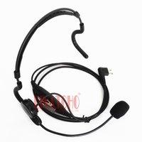 fones de ouvido militares walkie talkie venda por atacado-Profissional neckband colocar para falar microfone fone de ouvido militar 2 pinos para walkie talkie MOTOROLA GP308 GP350 GP2000