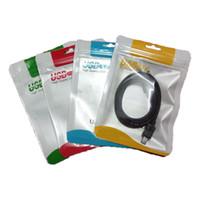 bolsas de embalaje de cable usb al por mayor-10.5 * 15 cm Cremallera Bolsa de plástico para la venta al por menor Paquete para colgar cajas de empaque de polietileno para la línea del iphone Cargador micro USB cable opp bolsa de embalaje