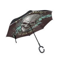 siyah araba sopa toptan satış-Susino Ters Şemsiye Araba Şemsiye Ters Sopa Şemsiye Erkekler Upside Down Siyah UV Koruma