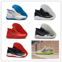 Wholesale best kevin durant shoes for sale - Group buy 2019 Best New Kevin Durant XII KD Basketball Shoes For High Quality Triple Black Red s Mens Fashion Sports Sneakers Size