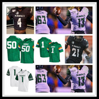 Wholesale 2019 College Football Hawaii Rainbow Jerseys COLE MCDONALD ALAKA I MASHIMA Penei Pavihi LINCOLN VICTOR CEDRIC BYRD II PRITCHARD HICKS Custom