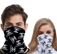 Wholesale handmade crochet headbands for sale - Group buy Popular Letters Printing Half Face Masks Outdoor Cycling Bandanas Scarf Designer Headband Sports Scarves Washable Protective Face Mask