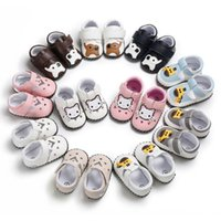 Wholesale moccasins baby booties resale online - Infant Boys Girls Baby Soft Sole Leather Shoes Moccasin Crib Booties M