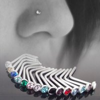 Wholesale rings for nose resale online - 100PCS Punk Style Piercing Nose Lip Body Jewelry For Man Women Studs mm Stainless Steel Body Piercing Jewelry