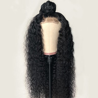 Wholesale vrigin hair for sale - Group buy Top Grade Kinky Curly Lace Wigs With Baby Hair Brazilian Vrigin Human hair Curly Wave Wigs For Black Women Curly Hair Wigs