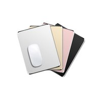 Wholesale apple mouse pads resale online - Aluminum Alloy Portable Non slip Gaming Mouse Pad Mat Double Sided Accurate Control Mousepad for PC double side mouse pads for Apple PC