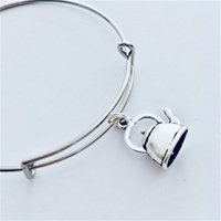 Wholesale idea charms for sale - Group buy Teapot Jewelry Kettle Jewellery Grandma Teapot Bangle Lover Gift Ideas Charms Afternoon Teapots