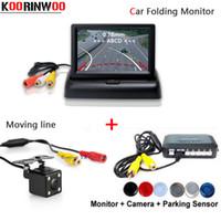 Wholesale radar camera resale online - Koorinwoo Car Detector Movable line car Rear view camera Parking Sensor Reverse Radars Monitor parktronic Buzzer Free Ship