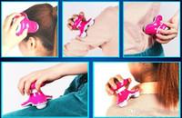 Wholesale back massager for sale - Mini Electric Triangle Handled Wave Vibrating Massager massage vibrators Back Massager USB Battery Full Body Massage Colors Retail Package