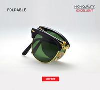lunettes pliantes pour femmes achat en gros de-2019 en gros nouveau top marque Vintage Folding club de mode Lunettes de soleil Hommes Femmes master Eyewear gradient Gafas Oculos De Sol lunettes de soleil 2176