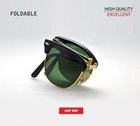 kadınlar için katlanır bardaklar toptan satış-2019 toptan yeni üst marka Vintage Katlanır moda kulübü Güneş Erkekler Kadınlar master Gözlük degrade Gafas ulculos De Sol güneş Gözlükleri 2176