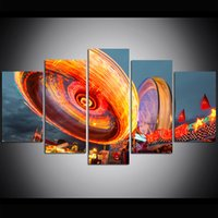 Wholesale carnival painting for sale - Group buy 5 Piece Large Size Canvas Wall Art Dream Carnival Flywheel Print Oil Painting Wall Art Pictures for Living Room Paintings Wall Decor