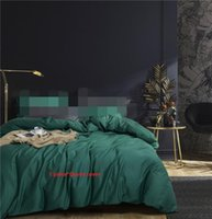 Wholesale yellow blue queen quilt cover resale online - 1 Piece duvet cover single queen king size quilt covers Cotton solid color S Sateen linens white green blue red cm