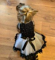 köpekler için tutuş toptan satış-Köpek Yaz Düğün Köpekler Elbiseler Köpek Tutu Elbise Dantel Elbise Sevimli Pet Kedi Prenses Giyim Elbise Parti Elbise