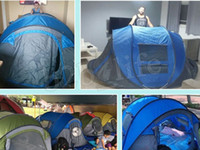 Wholesale outdoor waterproof tents for sale - Group buy Hui Lingyang Throw Tent Outdoor Automatic Tents Throwing Pop Up Waterproof Camping Hiking Tent Waterproof Large Family Tents