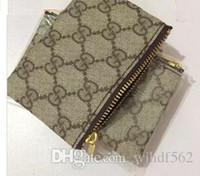 ingrosso borse della moneta animale del tessuto-Alta qualità famosa designer classico sacchetto chiave Damier Canvas detiene donne portamonete portamonete piccolo portafoglio Leer 7 colori