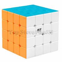 ingrosso 4x4 giocattoli-Qiyi 4x4 Speed Cube D-FantiX Puzzleless autoadesivo giocattolo magico regalo per bambini e adulti Sfida (versione Qiyuan S)